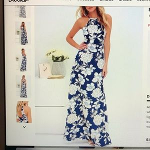 LULUS In Blossom Floral Print Maxi